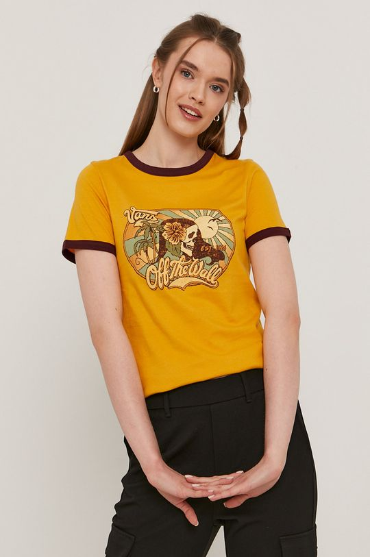 pomarańczowy Vans - T-shirt Damski