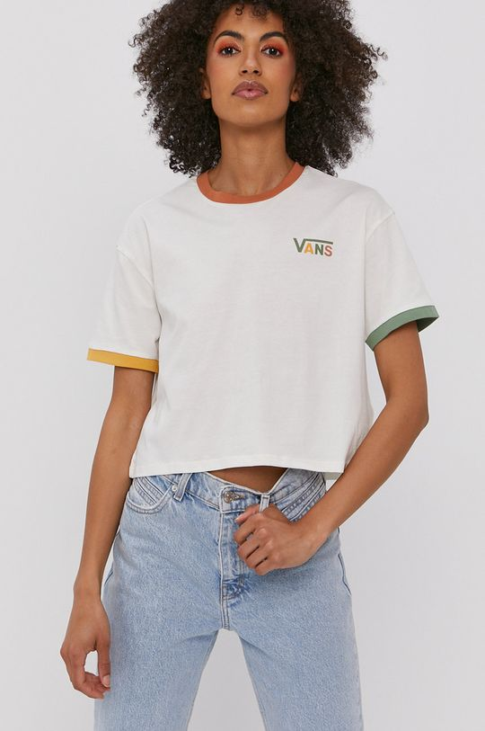 biały Vans - T-shirt x Karina Rozunko Damski