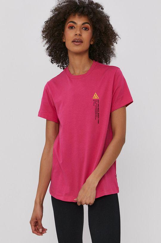 ostry różowy Vans - T-shirt Damski