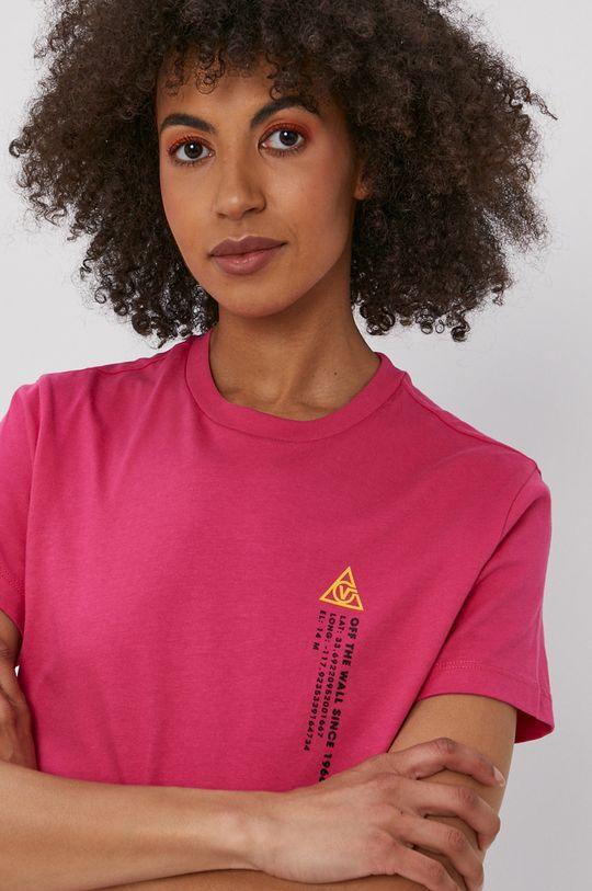 ostry różowy Vans - T-shirt