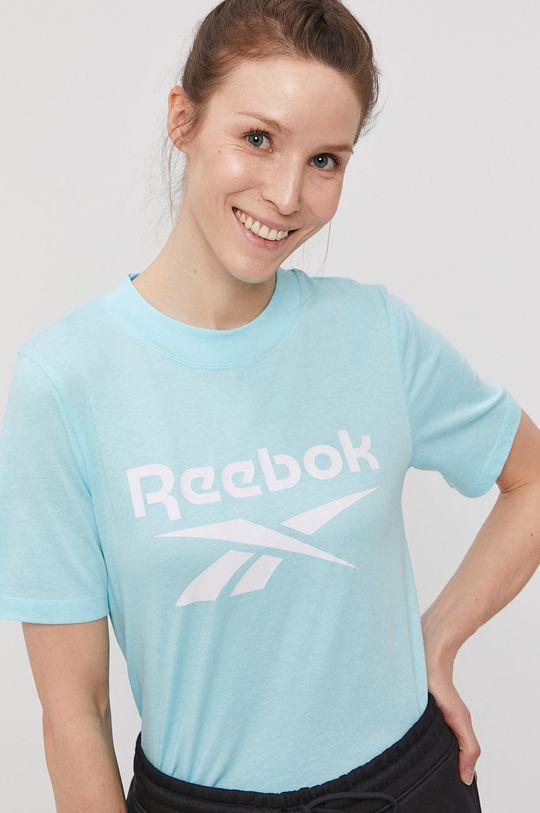 jasny niebieski Reebok - T-shirt Damski