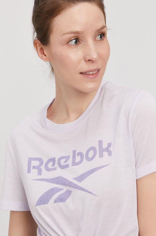 lawendowy Reebok - T-shirt