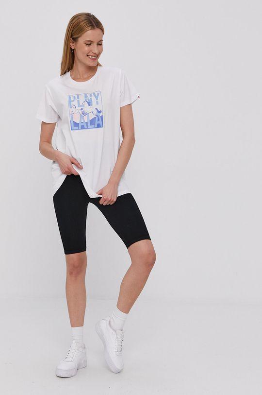 PLNY LALA - T-shirt biały