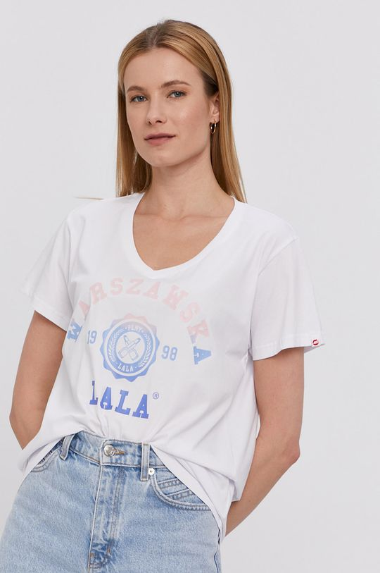 biały PLNY LALA - T-shirt
