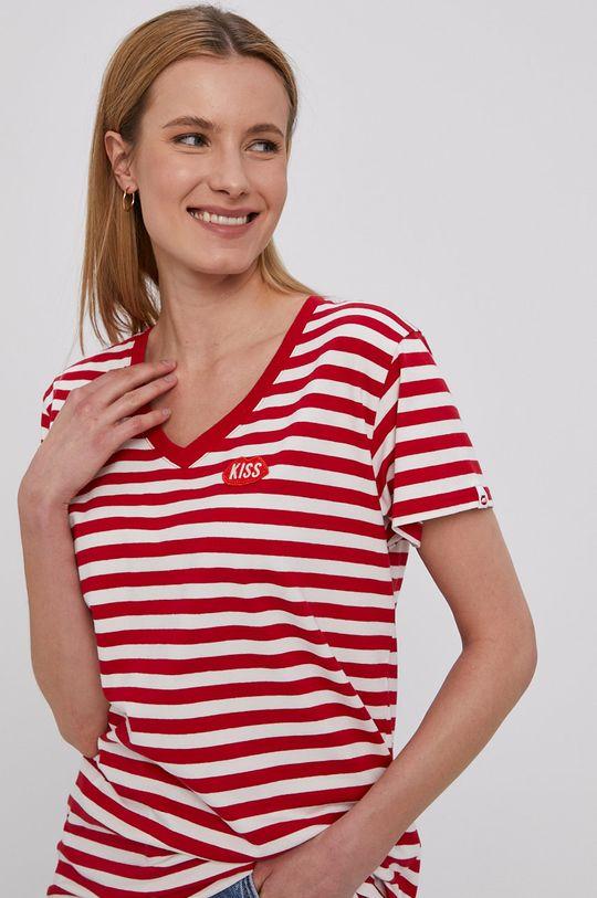 czerwony PLNY LALA - T-shirt Damski