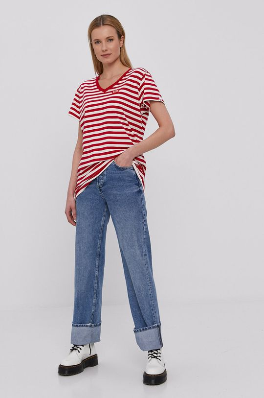 PLNY LALA - T-shirt czerwony