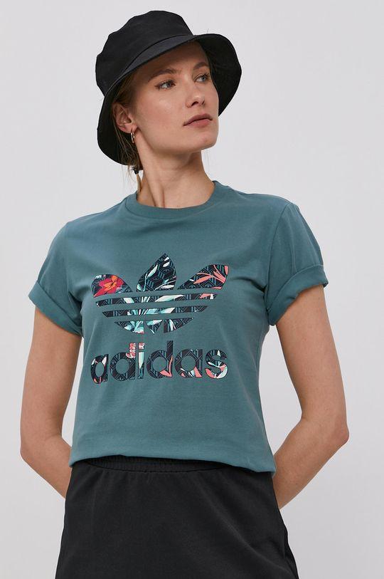 albastru metalizat adidas Originals - Tricou De femei