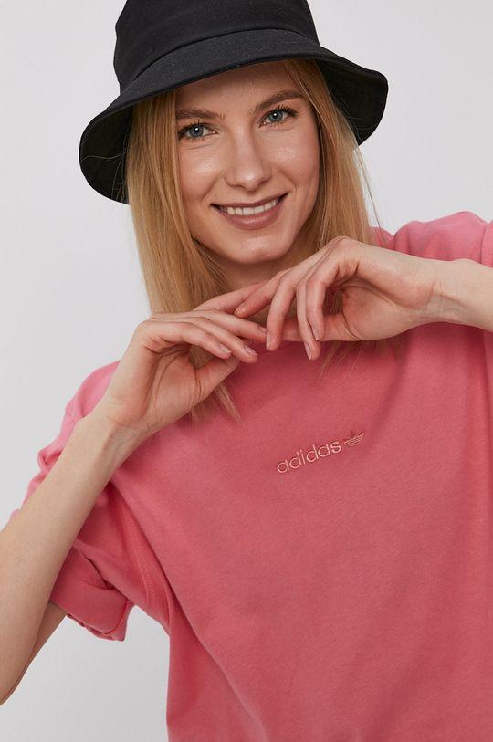 roz adidas Originals - Tricou