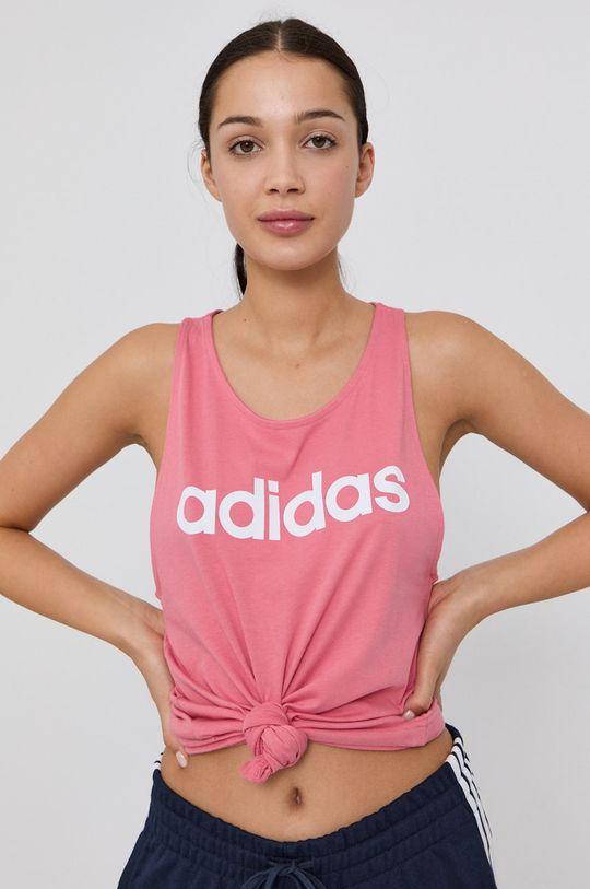 różowy adidas - Top Damski