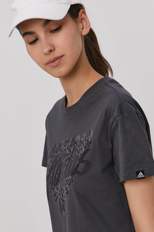 szary adidas - T-shirt Damski