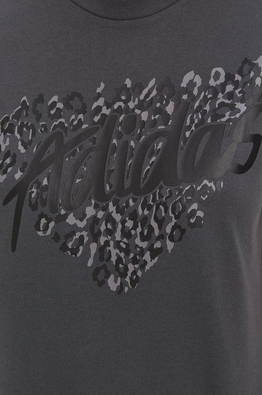 szary adidas - T-shirt
