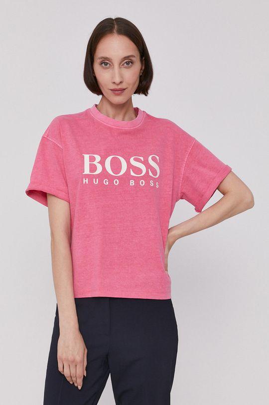 starorůžová Boss - Tričko Dámský