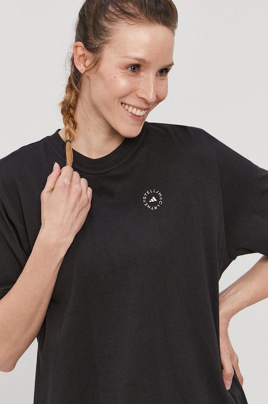 czarny adidas by Stella McCartney - T-shirt