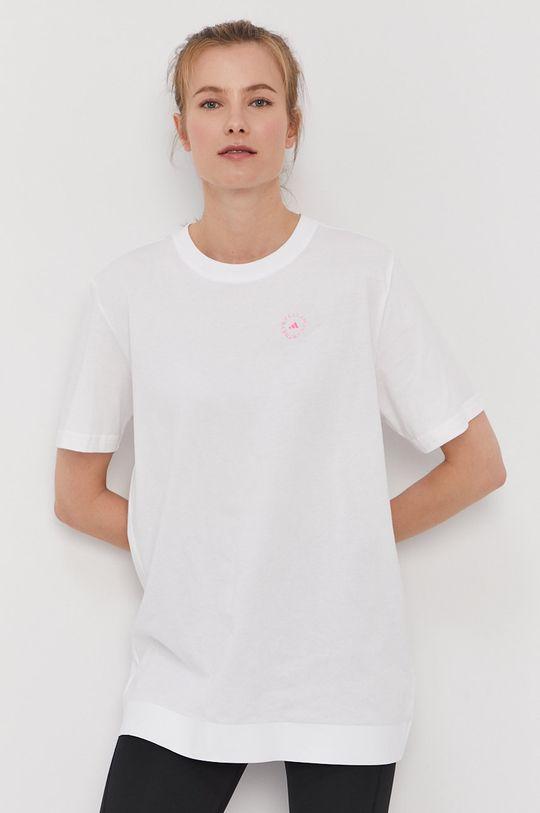 biały adidas by Stella McCartney - T-shirt Damski