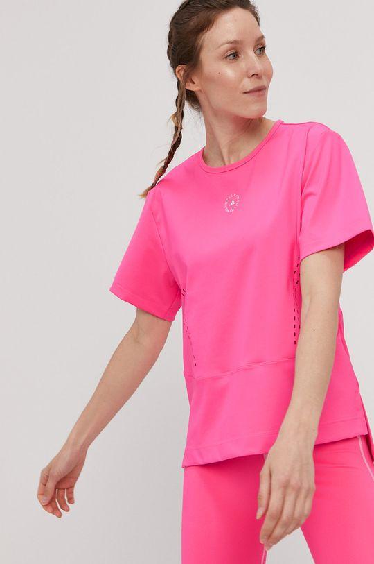 ostry różowy adidas by Stella McCartney - T-shirt Damski