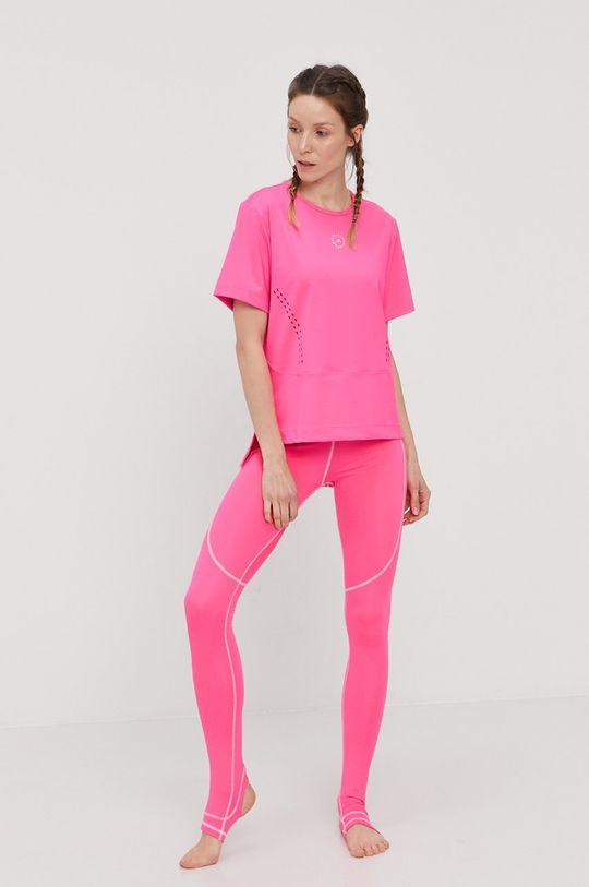 adidas by Stella McCartney - T-shirt ostry różowy