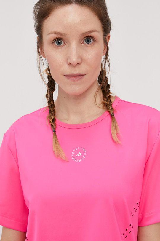 ostry różowy adidas by Stella McCartney - T-shirt