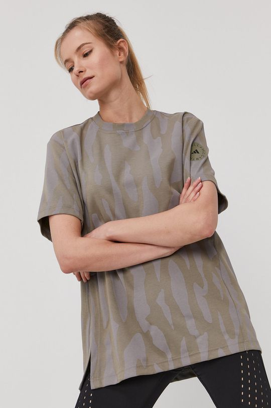 olivová adidas by Stella McCartney - Tričko Dámsky