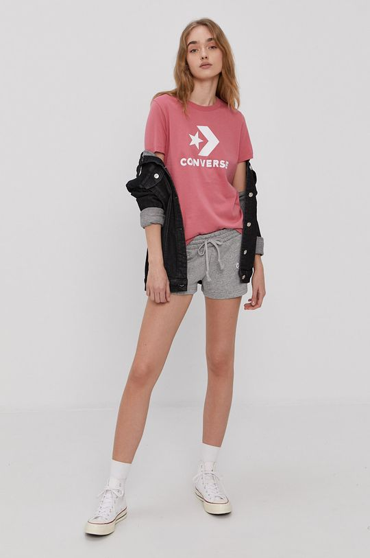 Converse - Tričko ružová