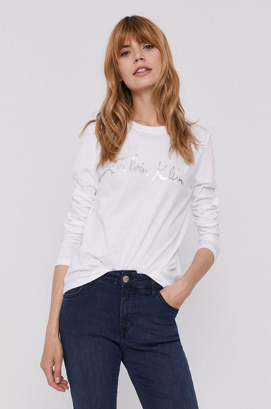 bílá Calvin Klein - Tričko s dlouhým rukávem Dámský