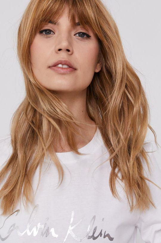 Calvin Klein - Tričko s dlouhým rukávem bílá