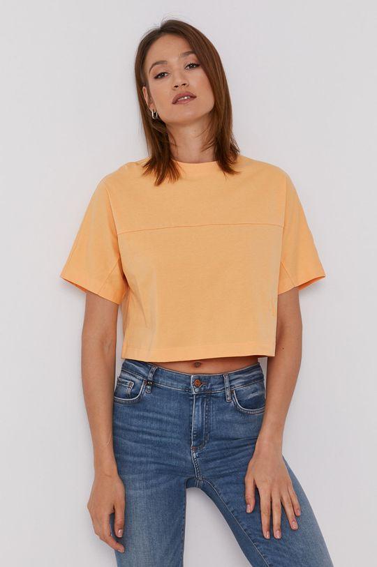 oranžová Calvin Klein Jeans - Tričko Dámsky