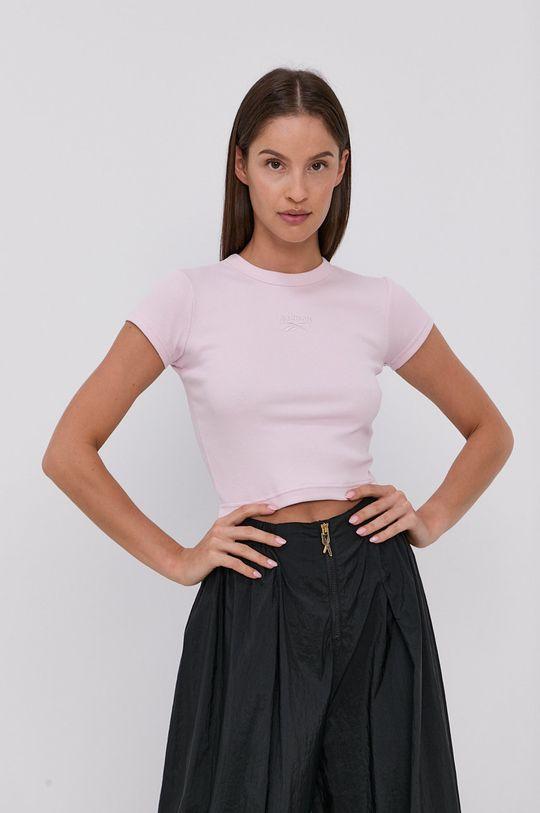pastelově růžová Reebok Classic - Tričko