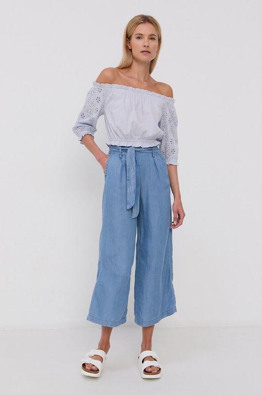 Tally Weijl - Bluzka bawełniana jasny niebieski