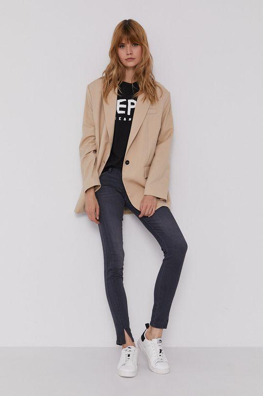 Pepe Jeans - T-shirt Mariona czarny