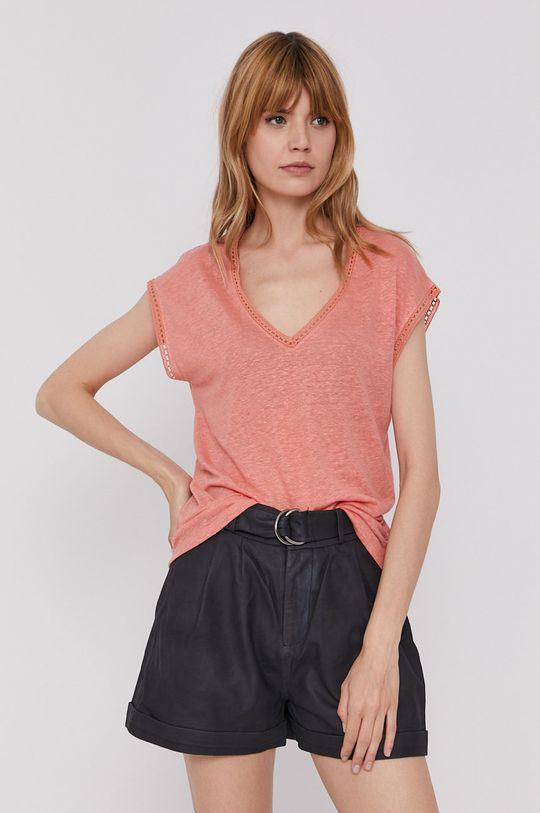 miedziany Pepe Jeans - T-shirt Clementine Damski