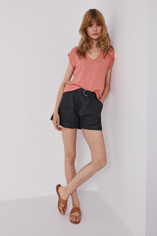 Pepe Jeans - T-shirt Clementine miedziany