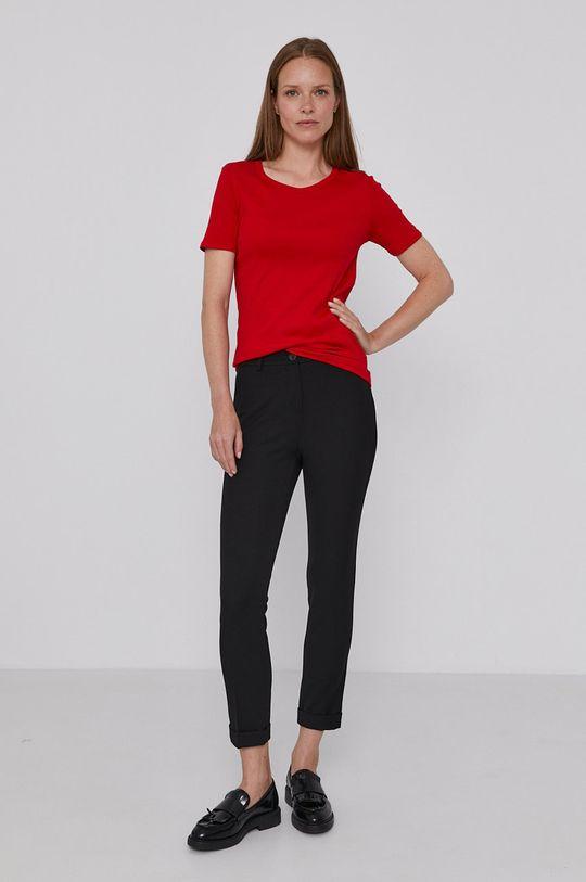 United Colors of Benetton - T-shirt bawełniany czerwony