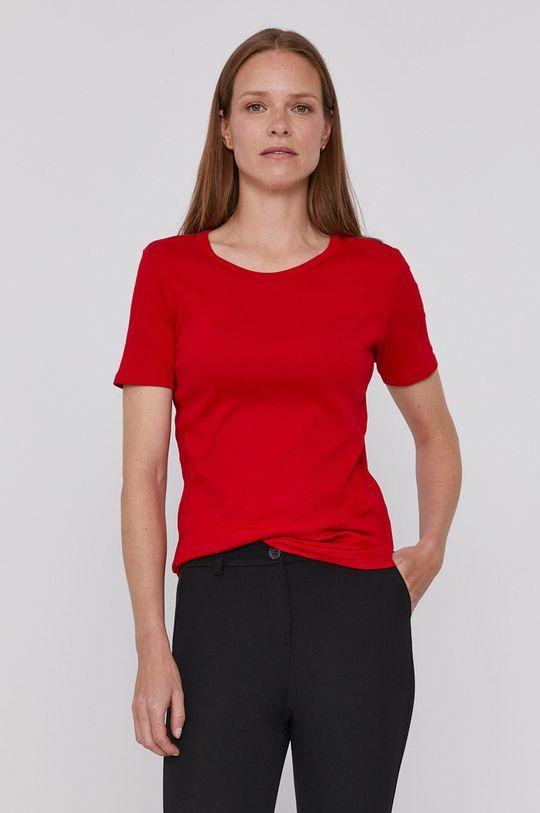 czerwony United Colors of Benetton - T-shirt bawełniany