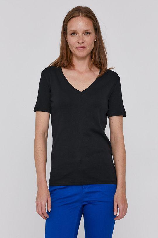 čierna United Colors of Benetton - Bavlnené tričko Dámsky