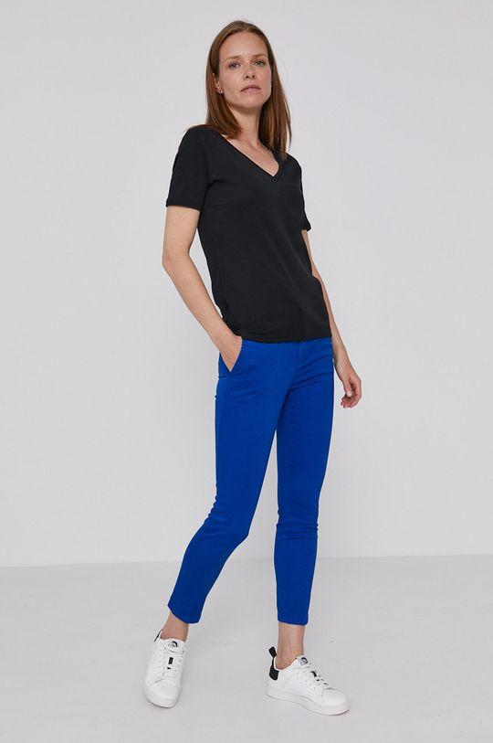 United Colors of Benetton - Bavlnené tričko čierna