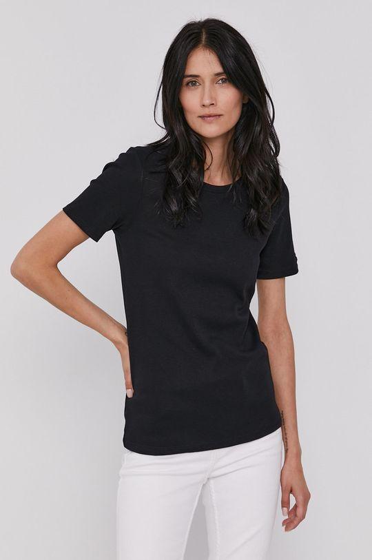 czarny United Colors of Benetton - T-shirt bawełniany Damski