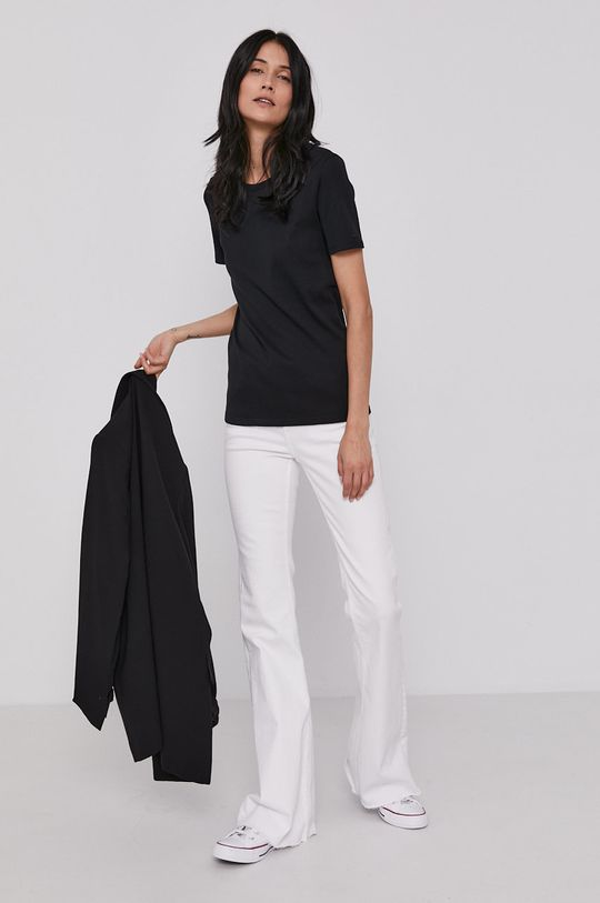 United Colors of Benetton - T-shirt bawełniany czarny
