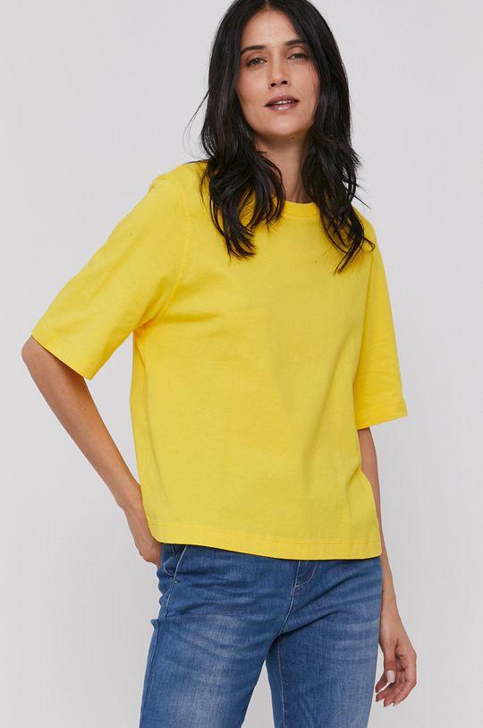 žlutá United Colors of Benetton - Tričko Dámský