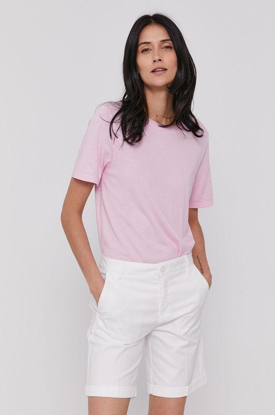 růžová United Colors of Benetton - Tričko