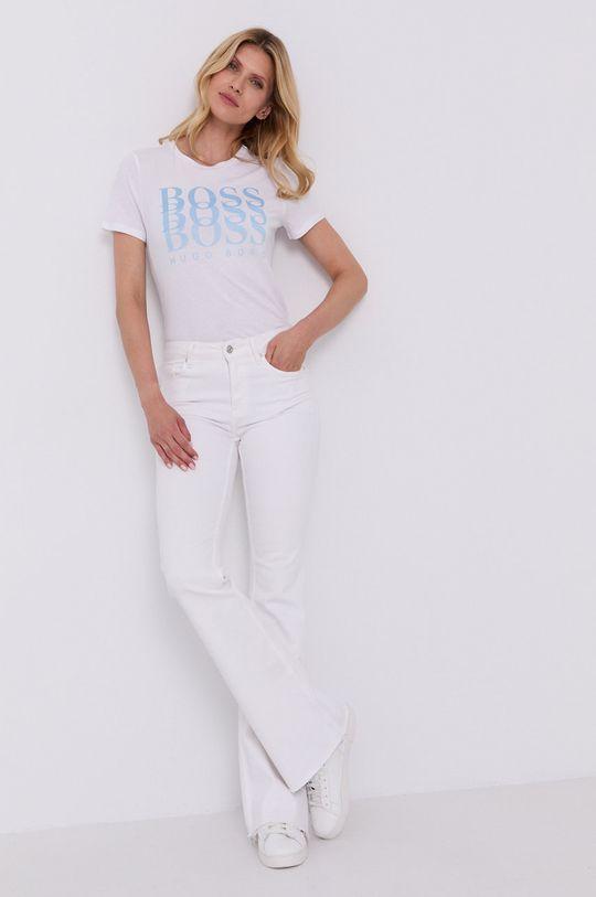 biały Boss - T-shirt Damski