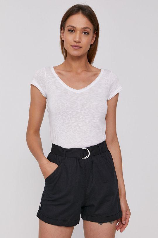 biały Sisley - T-shirt Damski