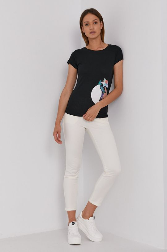 Sisley - T-shirt czarny