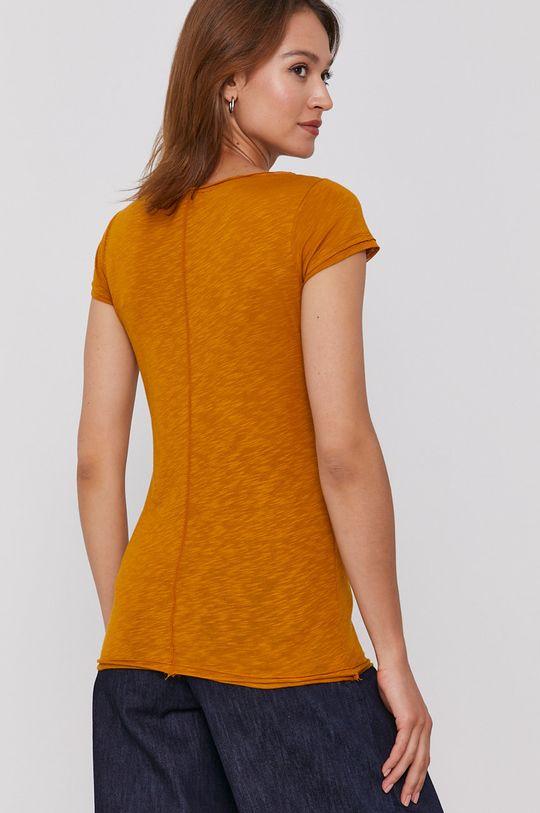 Sisley - T-shirt 50 % Bawełna, 50 % Modal