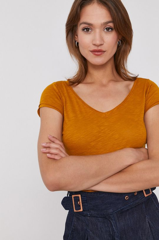 musztardowy Sisley - T-shirt
