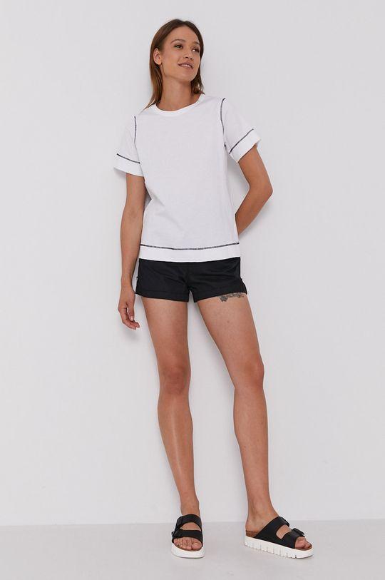 Sisley - T-shirt biały