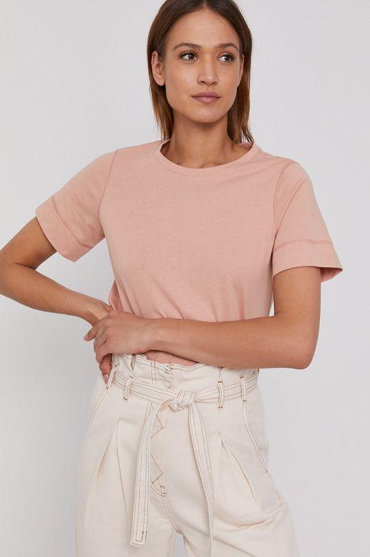 czerwony róż Sisley - T-shirt Damski