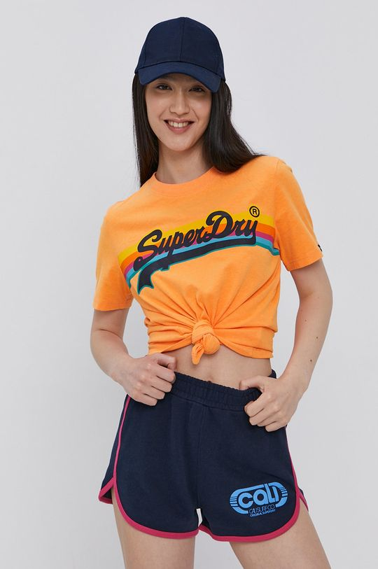 oranžová Superdry - Tričko