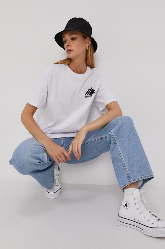 biały Superdry - T-shirt Damski
