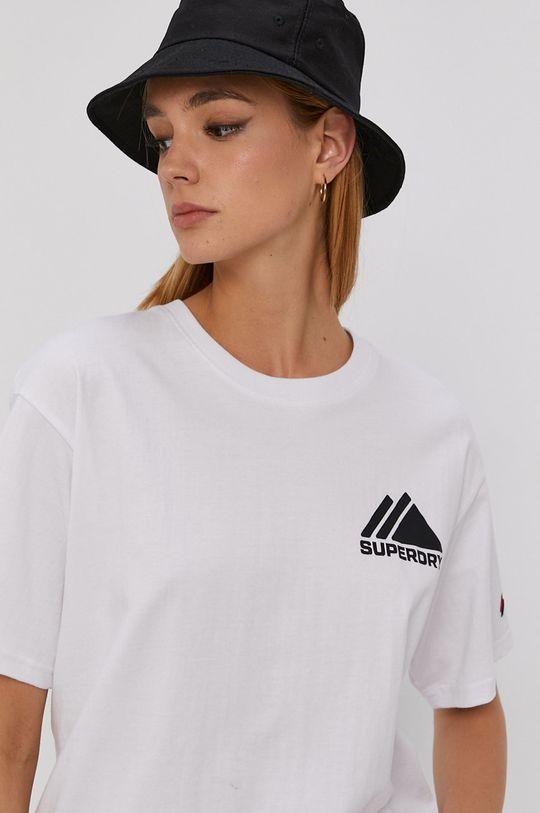 biały Superdry - T-shirt
