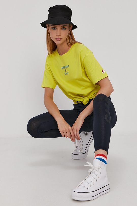 žlutá Superdry - Tričko Dámský